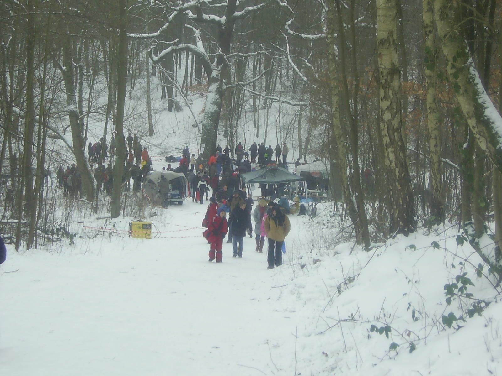Crosslauf Bergedorf 10.1.2010:  Blick auf den Start-/Zielbereich